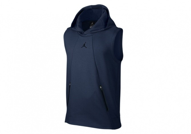 NIKE AIR JORDAN LITE FLEECE HOODIE MIDNIGHT NAVY
