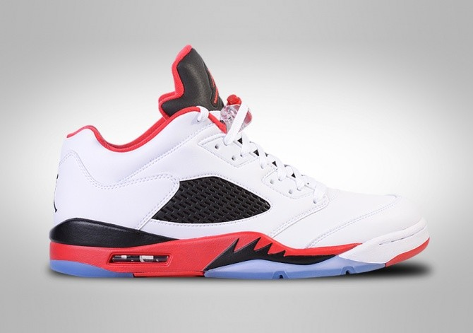 NIKE AIR JORDAN 5 RETRO LOW FIRE RED