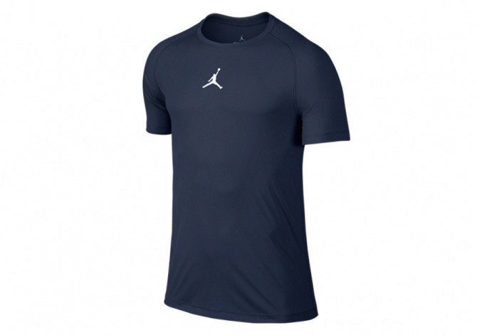 NIKE AJ SEASON FITTED SS TOP MIDNIGHT NAVY/WHITE