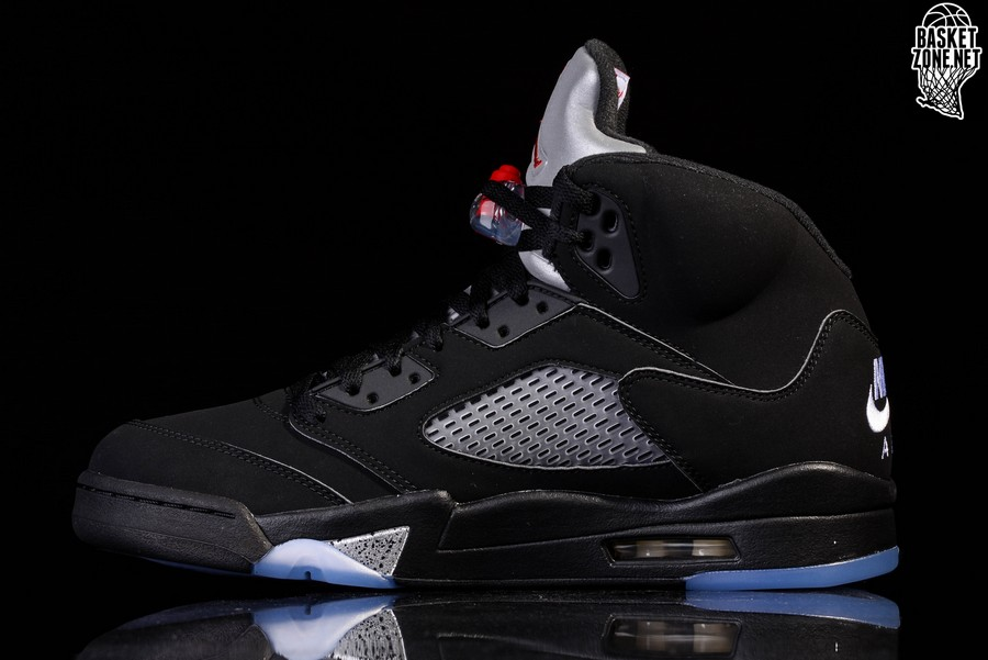 pretty nice 7624c 88ab4 NIKE AIR JORDAN 5 RETRO OG BLACK METALLIC BG