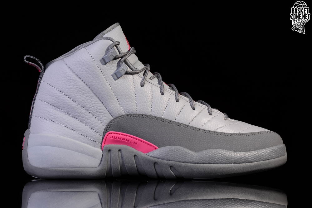 premium selection eafe2 dab19 NIKE AIR JORDAN 12 RETRO WOLF GREY VIVID PINK