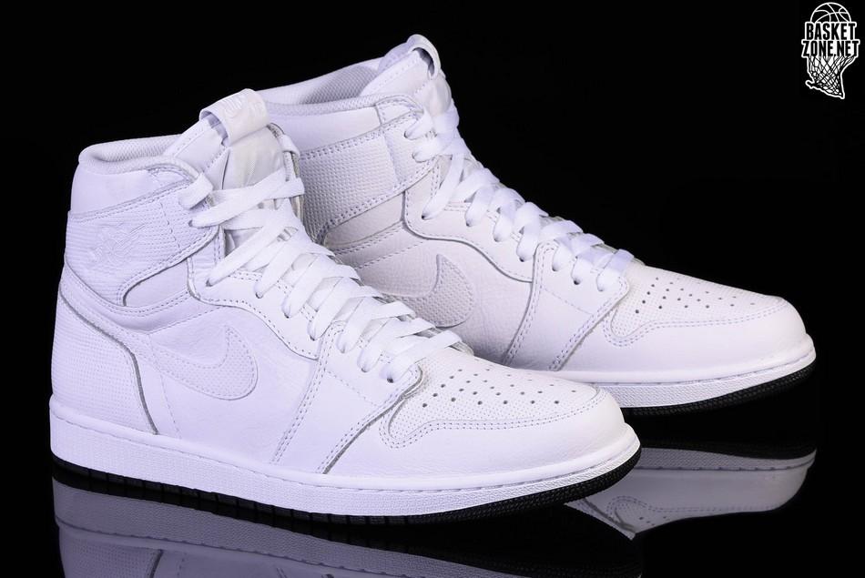 white perforated jordan 1