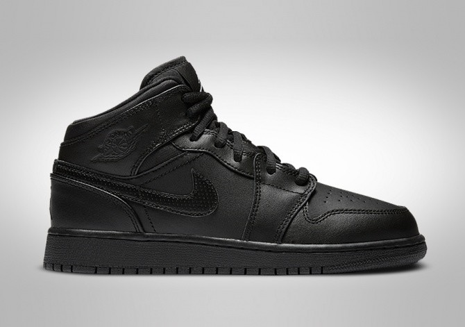 best website b2074 fd729 NIKE AIR JORDAN 1 RETRO MID GS BLACK