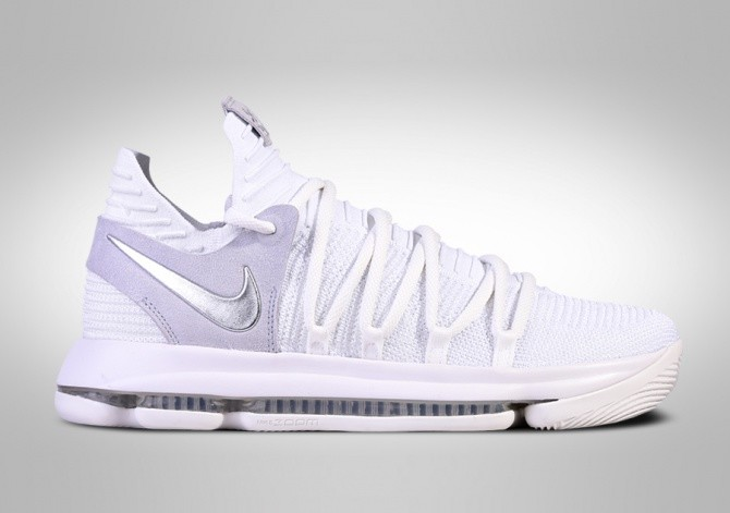 NIKE ZOOM KD 10 STILL KD WHITE CHROME