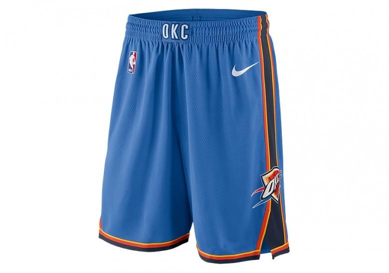 NIKE NBA OKLAHOMA CITY THUNDER SWINGMAN SHORTS ROAD SIGNAL BLUE