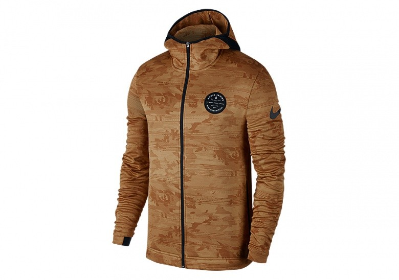 NIKE DRY KYRIE SHOWTIME HOODIE ELEMENTAL GOLD