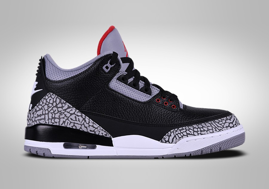 official photos 3d59e 010f1 NIKE AIR JORDAN 3 RETRO BLACK CEMENT