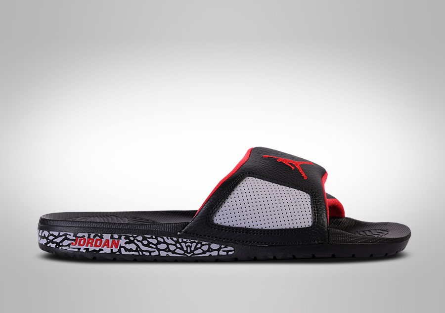 65c12a1144f8ac NIKE AIR JORDAN HYDRO SLIDE III RETRO BLACK CEMENT voor €57