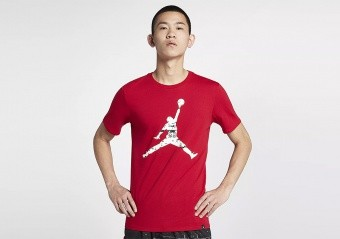 NIKE AIR JORDAN LAST SHOT TEE GYM RED