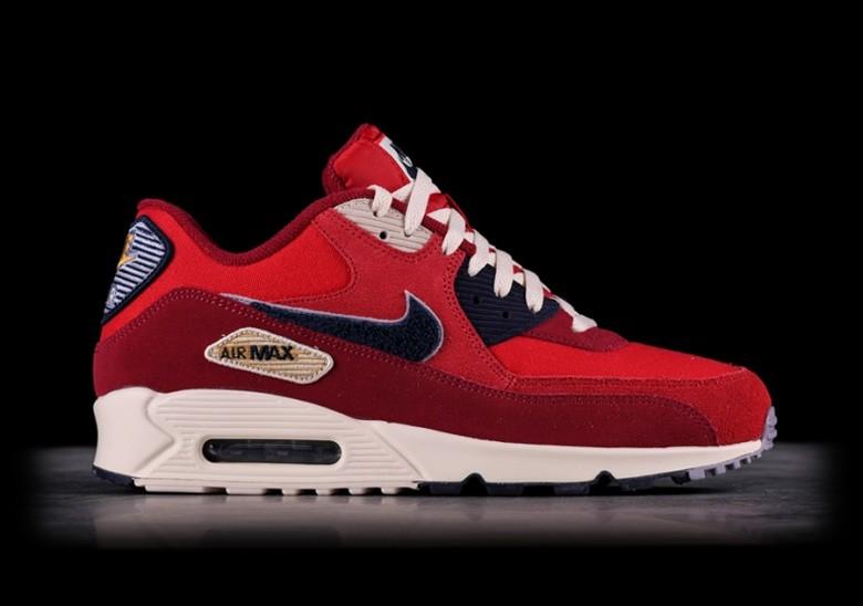 Nike Air Max 90 SE Shoes Nylon Deep Royal Blue Red White USA