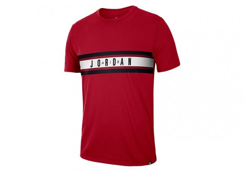 NIKE AIR JORDAN BASKETBALL DRY GRAPHIC 4 TEE GYM RED