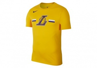 NIKE NBA LOS ANGELES LAKERS LOGO DRY TEE AMARILLO