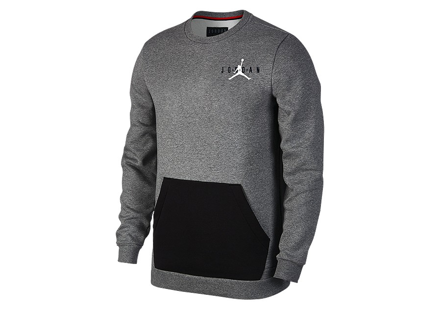 Sportswear Crew Air Jordan Nike Jumpman Fleece Heather Carbon qvBE1E