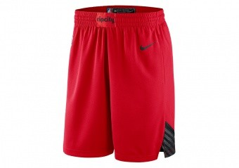 NIKE NBA PORTLAND TRAIL BLAZERS SWINGMAN SHORTS UNIVERSITY RED