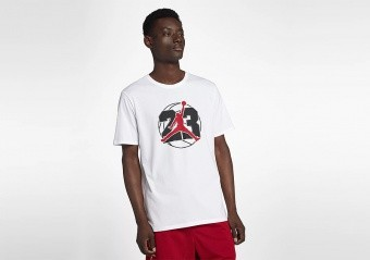 NIKE AIR JORDAN 13 JUMPMAN TEE WHITE