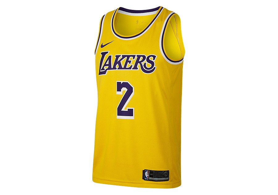NIKE NBA LOS ANGELES LAKERS LONZO BALL SWINGMAN ROAD JERSEY AMARILLO price  €77.50  f7d154141