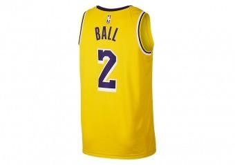 d22fbe613 NIKE NBA LOS ANGELES LAKERS LONZO BALL SWINGMAN ROAD JERSEY AMARILLO ...