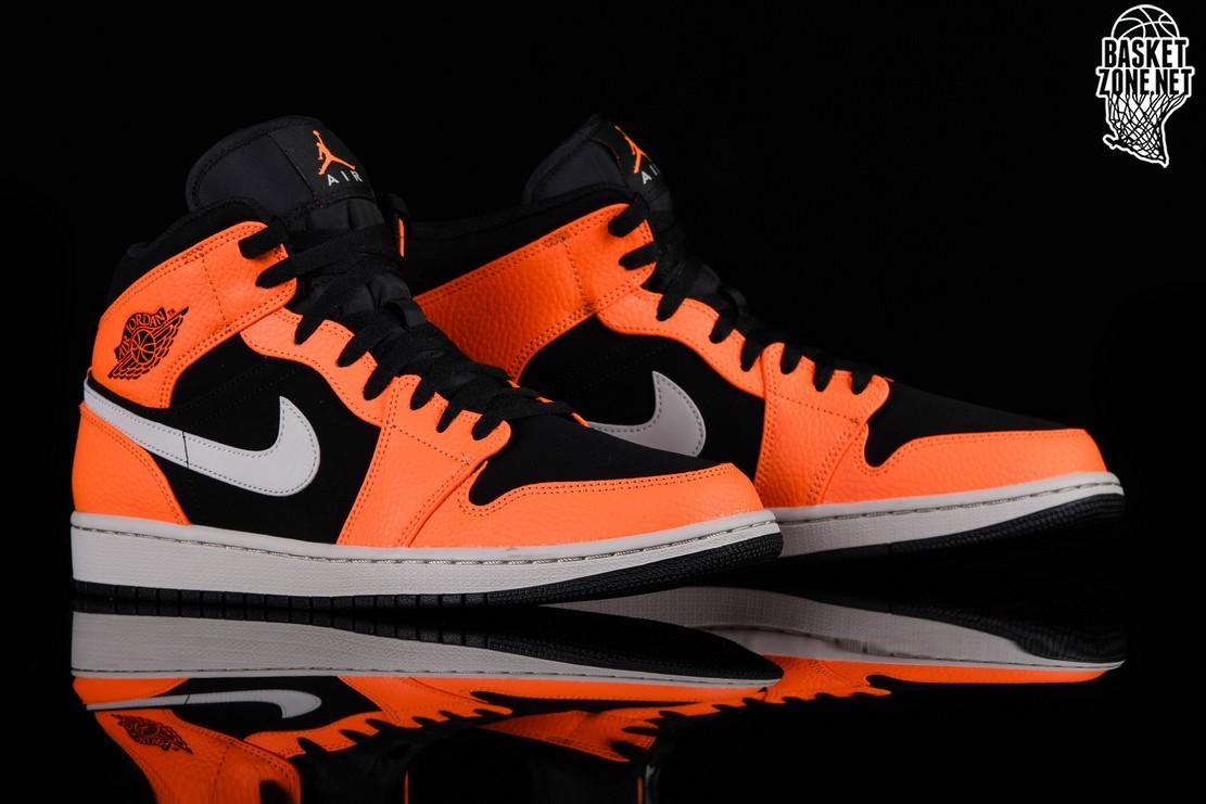 best sneakers 51cca 82deb NIKE AIR JORDAN 1 RETRO MID BLACK ORANGE