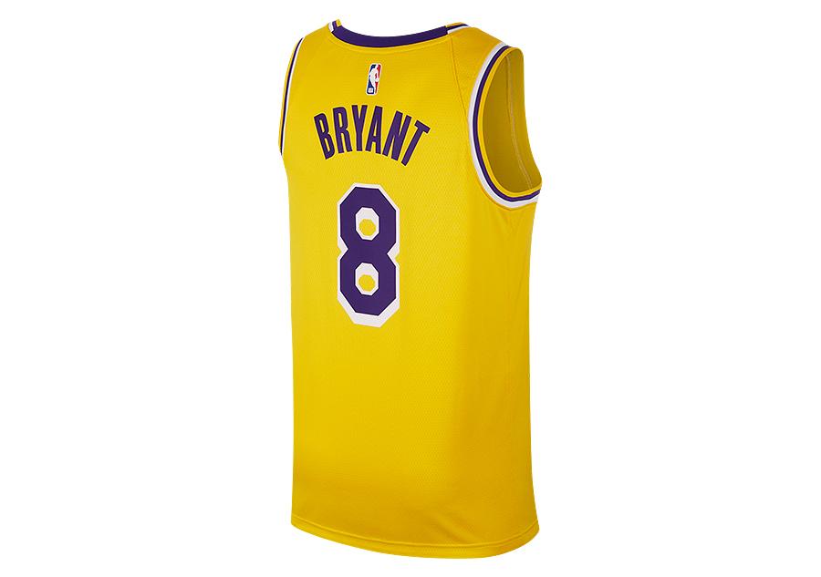 be6f269312 NIKE NBA LOS ANGELES LAKERS KOBE BRYANT SWINGMAN ROAD JERSEY AMARILLO