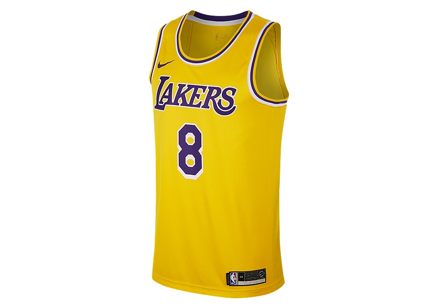 10572bc03 NIKE NBA LOS ANGELES LAKERS KOBE BRYANT SWINGMAN ROAD JERSEY AMARILLO price  €92.50