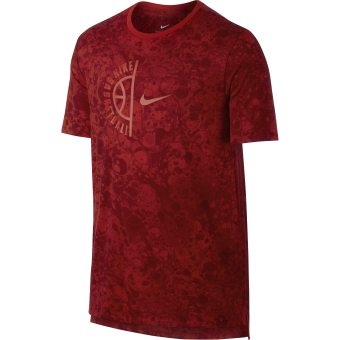 NIKE DRY BASKETBALL SWOOSH TEE RUSH RED