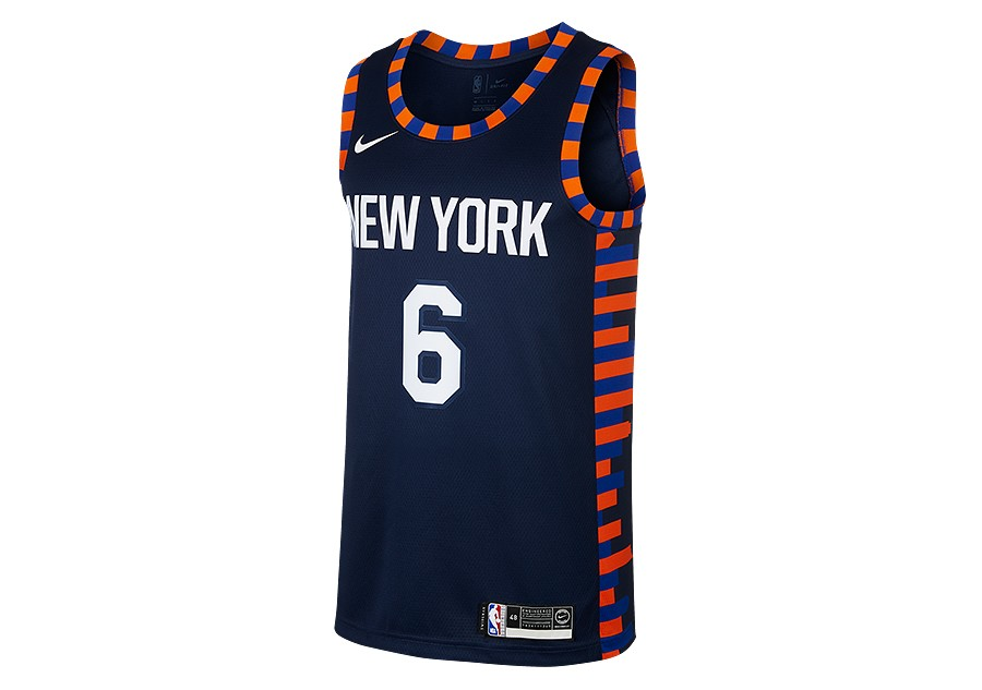 9d5e573a20d1 NIKE NBA NEW YORK KNICKS KRISTAPS PORZINGIS SWINGMAN JERSEY COLLEGE NAVY
