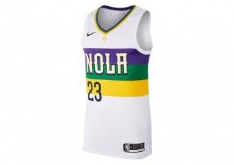 NIKE NBA NEW ORLEANS PELICANS ANTHONY DAVIS SWINGMAN JERSEY WHITE