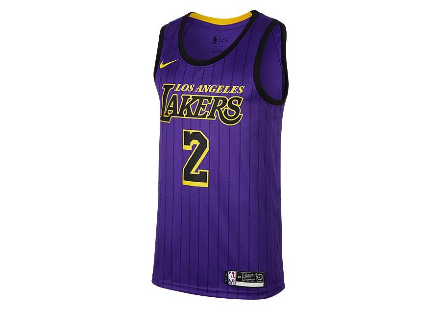 287494ea2 NIKE NBA LOS ANGELES LAKERS LONZO BALL SWINGMAN JERSEY FIELD PURPLE ...