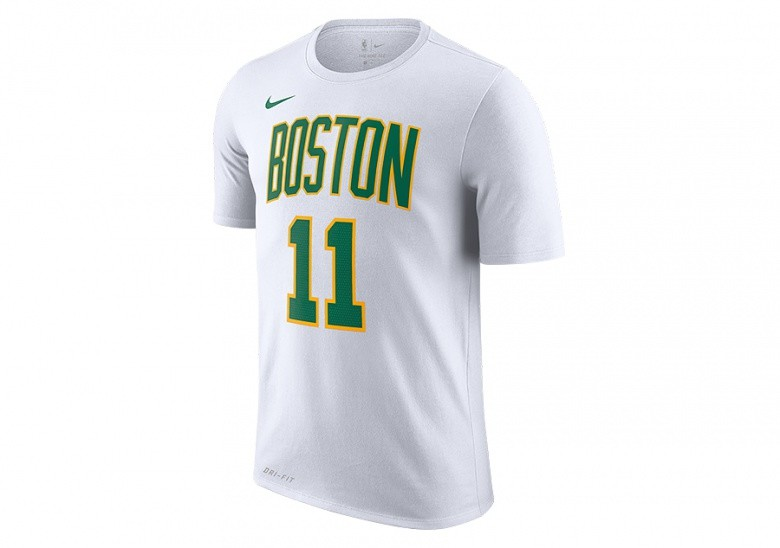 NIKE NBA BOSTON CELTICS KYRIE IRVING DRY TEE WHITE
