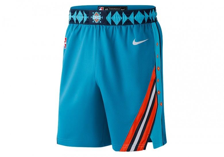 NIKE NBA OKLAHOMA CITY THUNDER SWINGMAN SHORTS TIDAL BLUE