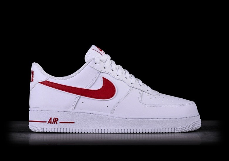 the best attitude a16ee c0332 NIKE AIR FORCE 1  07 WHITE GYM RED