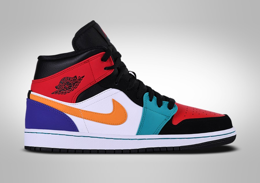 premium selection d01e9 f396e NIKE AIR JORDAN 1 RETRO MID MULTICOLOR