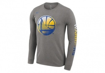 NIKE NBA GOLDEN STATE WARRIORS DRY TEE DARK GREY HEATHER
