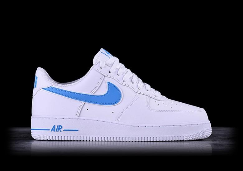 NIKE AIR FORCE 1 '07 3 White University Blue Ao2423