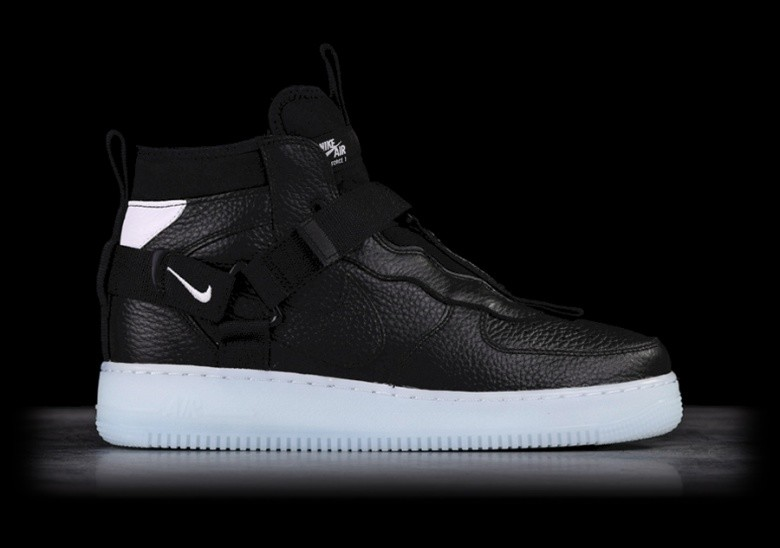 low priced 73146 dbfdc NIKE AIR FORCE 1 UTILITY MID BLACK