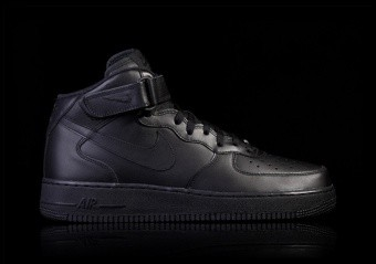 NIKE AIR FORCE 1 MID '07 BLACK