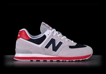 NEW BALANCE 574 GREY WITH RED