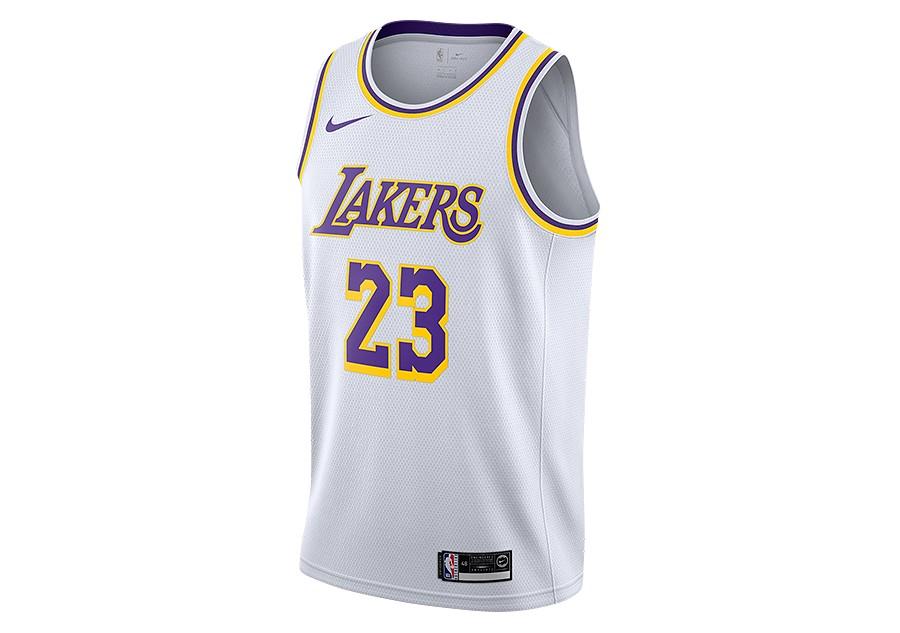 3c60cc1db9de NIKE NBA LOS ANGELES LAKERS LEBRON JAMES SWINGMAN HOME JERSEY WHITE price  €77.50