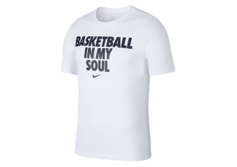 NIKE BASKETBALL DRY TEE WHITE