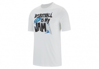 NIKE 'BASKETBALL IS MY JAM' DRY TEE WHITE