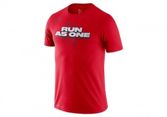 NIKE NBA HOUSTON ROCKETS MANTRA DRY TEE UNIVERSITY RED