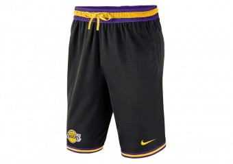 NIKE NBA LOS ANGELES LAKERS DNA SHORTS BLACK