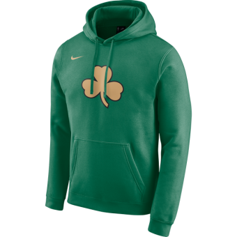 NIKE NBA BOSTON CELTICS LOGO PULLOVER FLEECE HOODIE