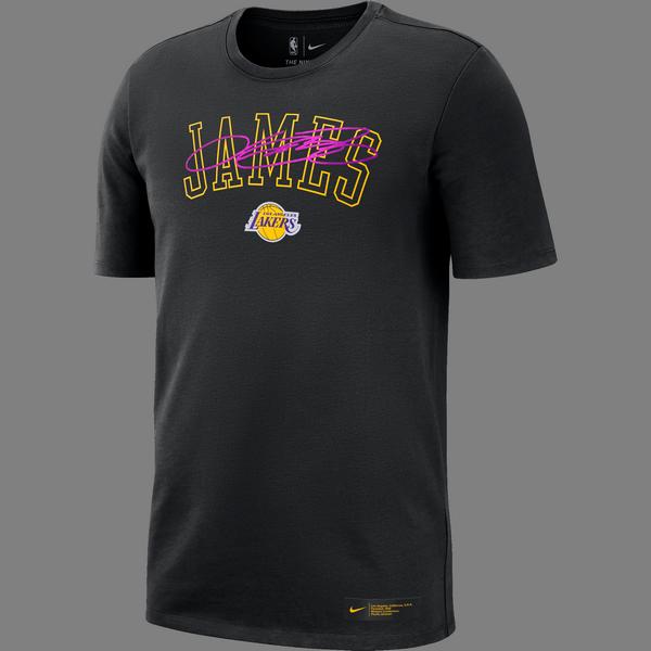 NIKE NBA LOS ANGELES LAKERS LEBRON JAMES TEE