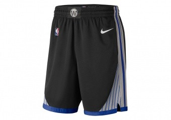 NIKE NBA GOLDEN STATE WARRIOR SWINGMAN SHORTS BLACK