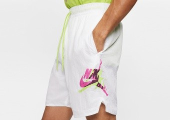 NIKE AIR JORDAN JUMPMAN POOLSIDE 7' SHORTS WHITE