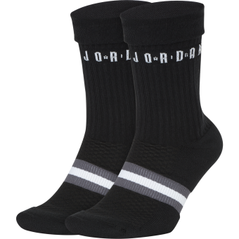 NIKE AIR JORDAN LEGACY CREW 2PACK SOCKS BLACK
