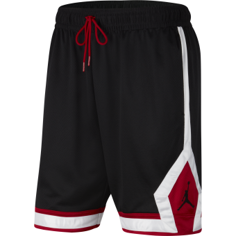 JORDAN JUMPMAN DIAMOND SHORTS BLACK GYM RED