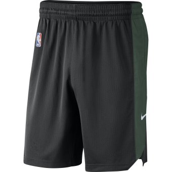 NIKE NBA MILWAUKEE BUCKS PRACTICE SHORTS BLACK