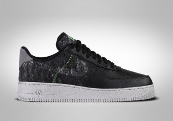 NIKE AIR FORCE 1 LOW '07 LV8 BLACK ELECTRIC GREEN